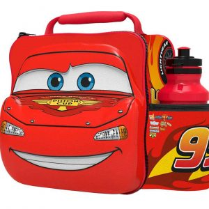 3D Cars Lunch Bag with Bottle
