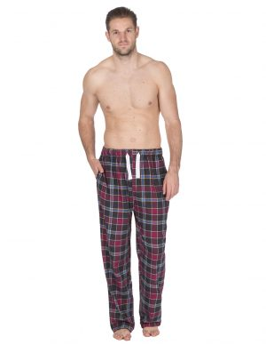 Mens Cargo Bay Check Lounge Pants