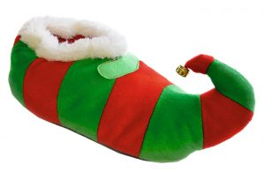 Adults Unisex Christmas Elf Slippers