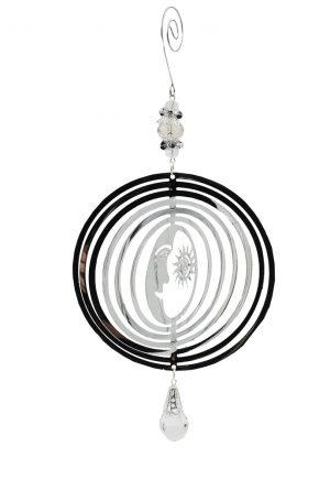 Silver Colour Metal Astral Wind Spinner Mobile