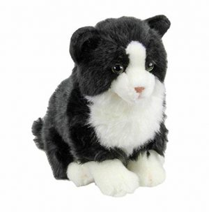 Plush Cat BLACK and WHITE