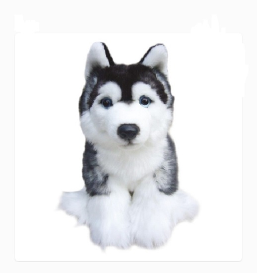 Plush Dog SIBERIAN HUSKY