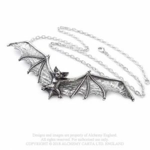 Alchemy Pewter Pendant Gothic Bat