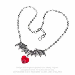 Alchemy Pewter Pendant Vampire Love Heart