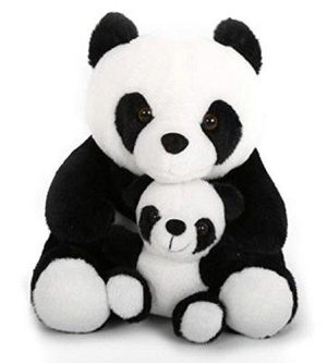 Black and White Panda and Baby Doorstop