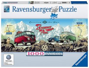Cross The Alps with VW Panoramic Jigsaw Puzzle