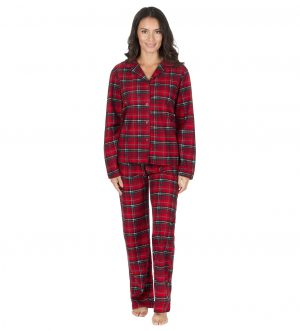 Ladies Soft Touch Thermal Check Pyjamas Set a914b1e5b