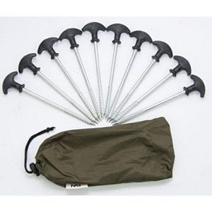 NGT Bivvy Pegs In Green Carry Bag