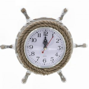 Ship's Wheel Rope Wall Clock