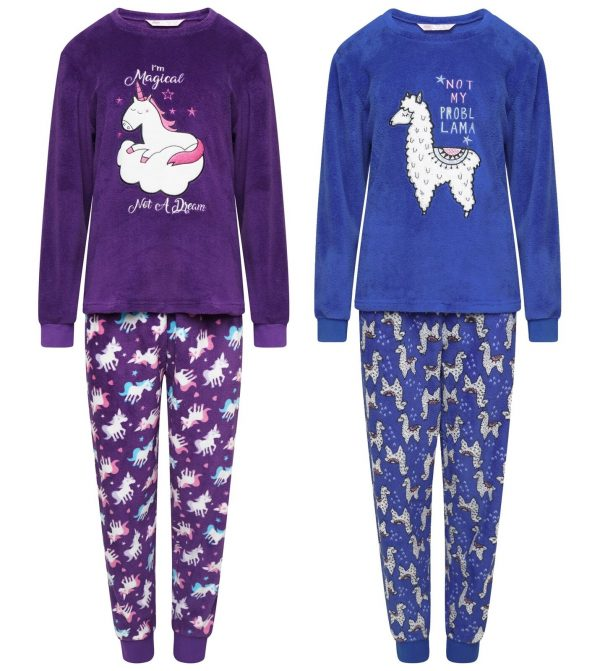 Childrens Full Fleece Pyjama Set