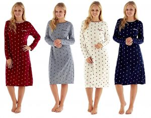 Ladies Daisy Print Jersey Nightdress