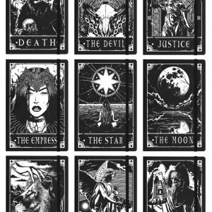 Deadly Tarot A5 Hard Cover Notebook ~ 9 Designs