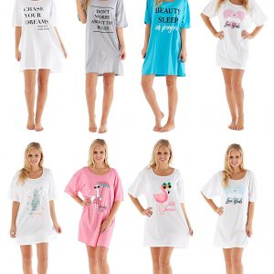 Ladies Cotton Summer Sleepy Tee ~ UK 8-18
