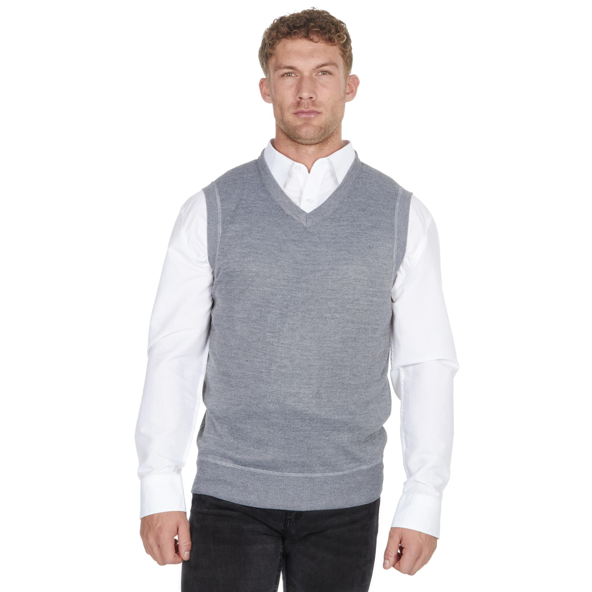 Pierre Roche Mens Plus Size Sleeveless Knitted Tank Top Jumper