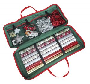 Christmas Wrapping Paper Storage Bag