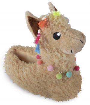 Ladies Novelty Llama Slippers