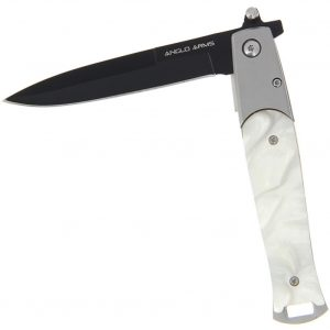 Anglo Arms Spear Point Pearl Effect Lock Knife