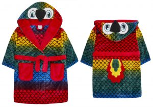 Childrens Novelty Parrot Dressing Gown with Tail