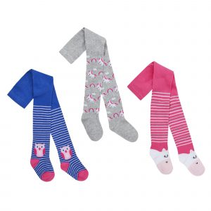 Babies 3 Pk of Unicorn and Owl Tights ~ 0-24 Months