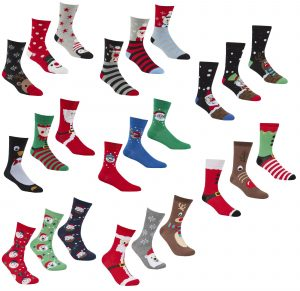 Adults 3 Pack Christmas Socks