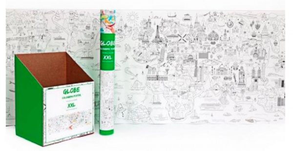 Extra Large Colouring World Poster