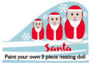 Paint Your Own Santa Nesting Doll Kit