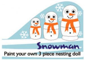 Paint Your Own Snowman Nesting Doll Kit