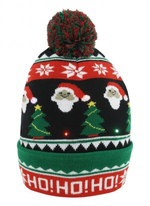 Adults Light Up Novelty Christmas Beanie Hat
