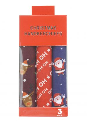 Novelty Christmas Handkerchiefs Set