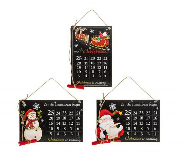 Christmas Countdown Hanging Plaque