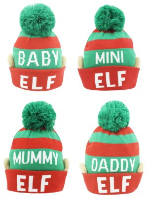 Elf Family Christmas Beanie Hat