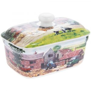 Farmyard Ceramic Butter Dish
