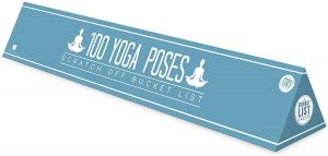 100 Yoga Poses Bucket List Scratch Poster