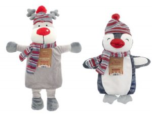 Winter Friends Hot Water Bottle with Cover