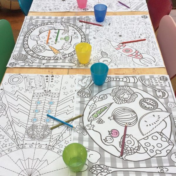 Eggnogg Colour In Placemat 6 Pack