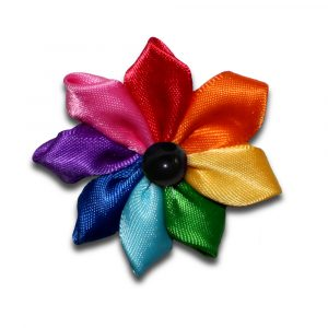 Gilbert Baker Flower Pin Badge