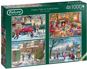 Family Time at Christmas Four 1000 Piece Jigsaw Puzzles