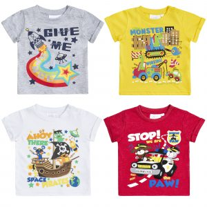 4 Pack Baby Boys Summer Design T Shirts