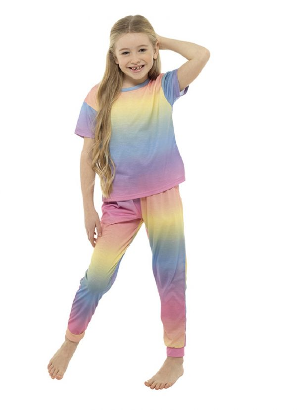 Childrens Rainbow Gradient Pyjama Set