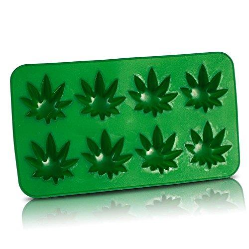 Ice cube tray.Make 8 cannabis leaf shaped ice cubes, perfect for adding originality to your aperitif.Flexible material to help remove cubes.Tray measures 20 x 10 cm.