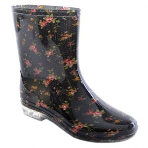Ladies Floral Print short wellies
