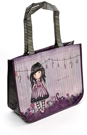 Gorjuss Sugar and Spice Woven Coated Shopper Bag with Purse