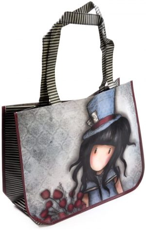 Gorjuss The Hatter Woven Coated Shopper Bag with Purse