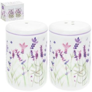 Fine ChinaSet with Jennifer Rose Lavender Loose Watercolour Style.Part of the Leonardo Collection.Dishwasher and microwave safe.Dimensions: 7cm x 4.5cm.Gift boxed.