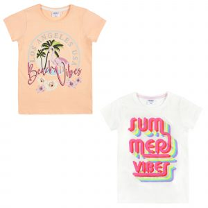 Pack of 2 Girls Printed Summer TShirts