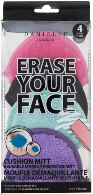 Erase Your Face 4 Pack Cushion Mitts