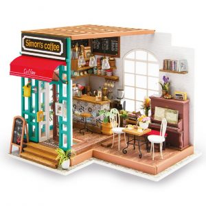 DIY 3D Mini Room Dolls House Kits with LED Lights