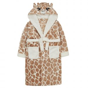 Childrens Novelty Giraffe Dressing Gown
