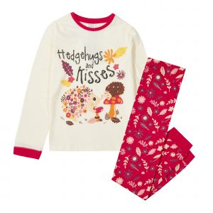 Childrens Hedgehog Kisses Pyjama Set