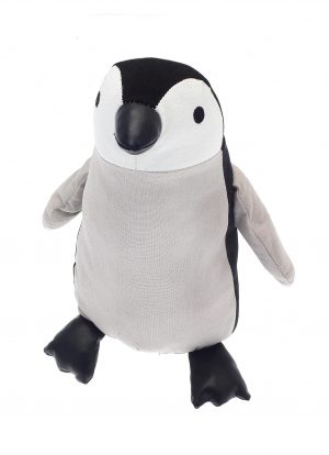 Black and Beige Natural Penguin Door Stop
